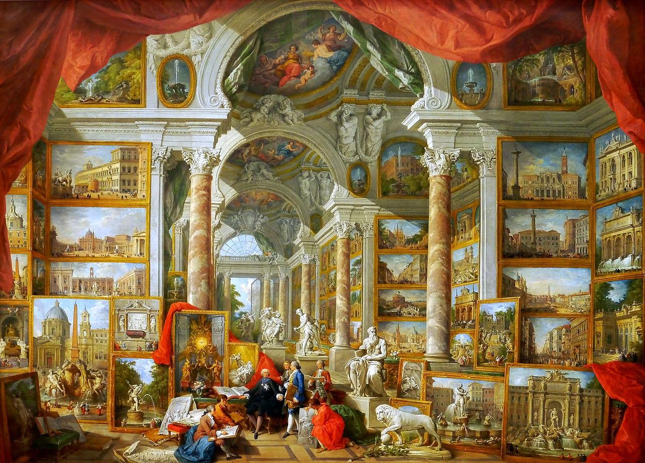 pannini V3b 1759 galerie-de-peinture-avec-vues-de-la-rome-moderne Louvre