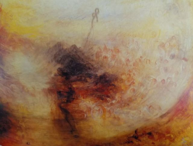 turner 1843 deluge Night and Colour The Morning After the Deluge detail
