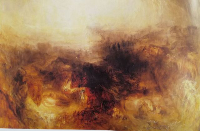 turner 1843 deluge-Shadow and Darkness The Evening of the Deluge detail
