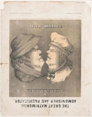 1861 The_great_matrimonial_admonisher_and_pacificator After Marriage