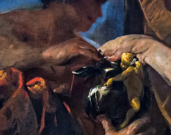 Accademia_-_Francesco_Maffei_-_Mythological_Scene detail Mercure