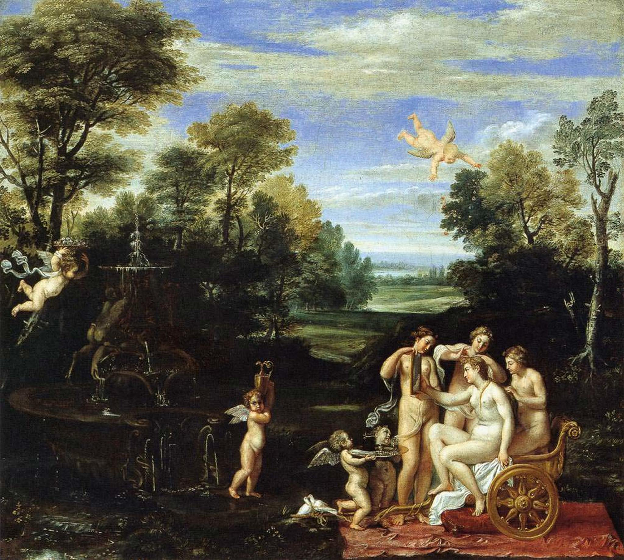Annibale_Carracci 1605 Landscape-with-the-Toilet-of-Venus Pinacoteca Nazionale Bologna,