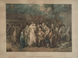 BOILLY 1808 SAVOYARDS-MONTRANT-LA-MARMOTTE.-UNE-SCENE-DES-BOULEVARDS.Coll privee