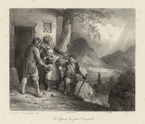 Bellange 1824 Le depart du Petit Savoyard Musee Carnavalet