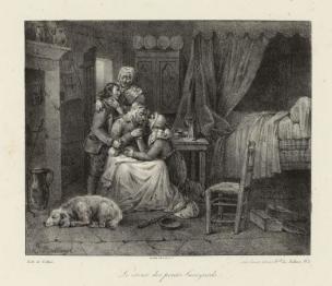 Bellange 1824 Le retour des Petits Savoyards Musee Carnavalet