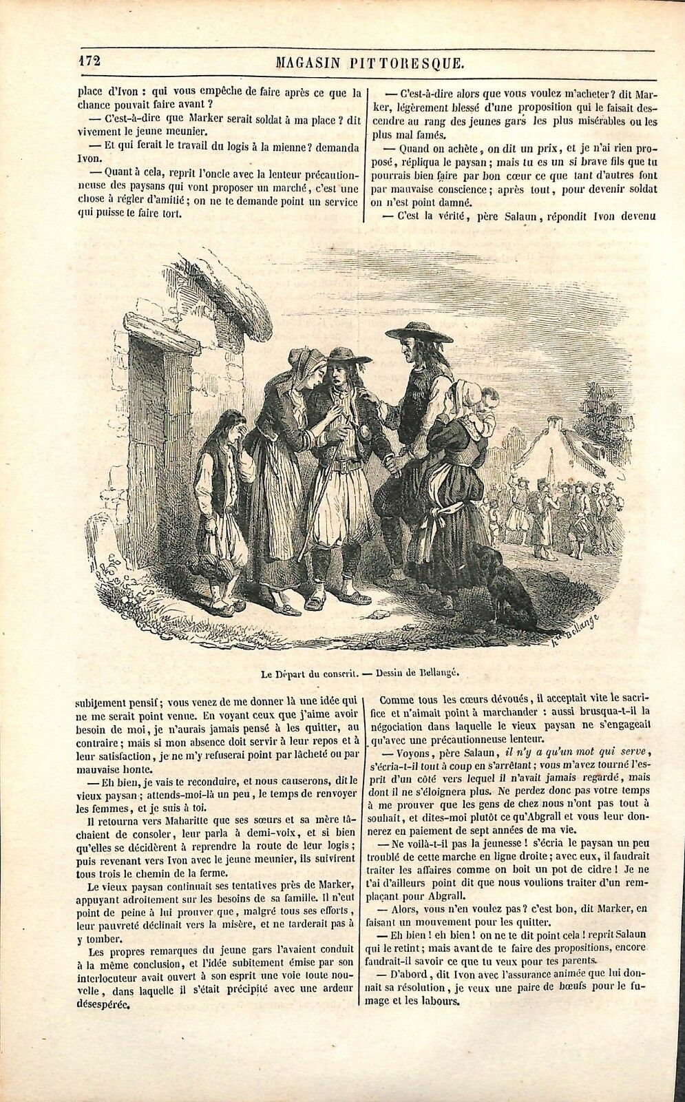 Bellange 1851 Le-depart-du-conscrit