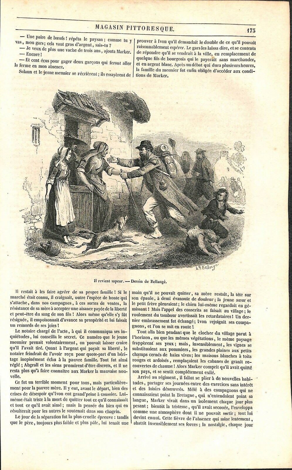 Bellange 1851 il-revient-Sapeur