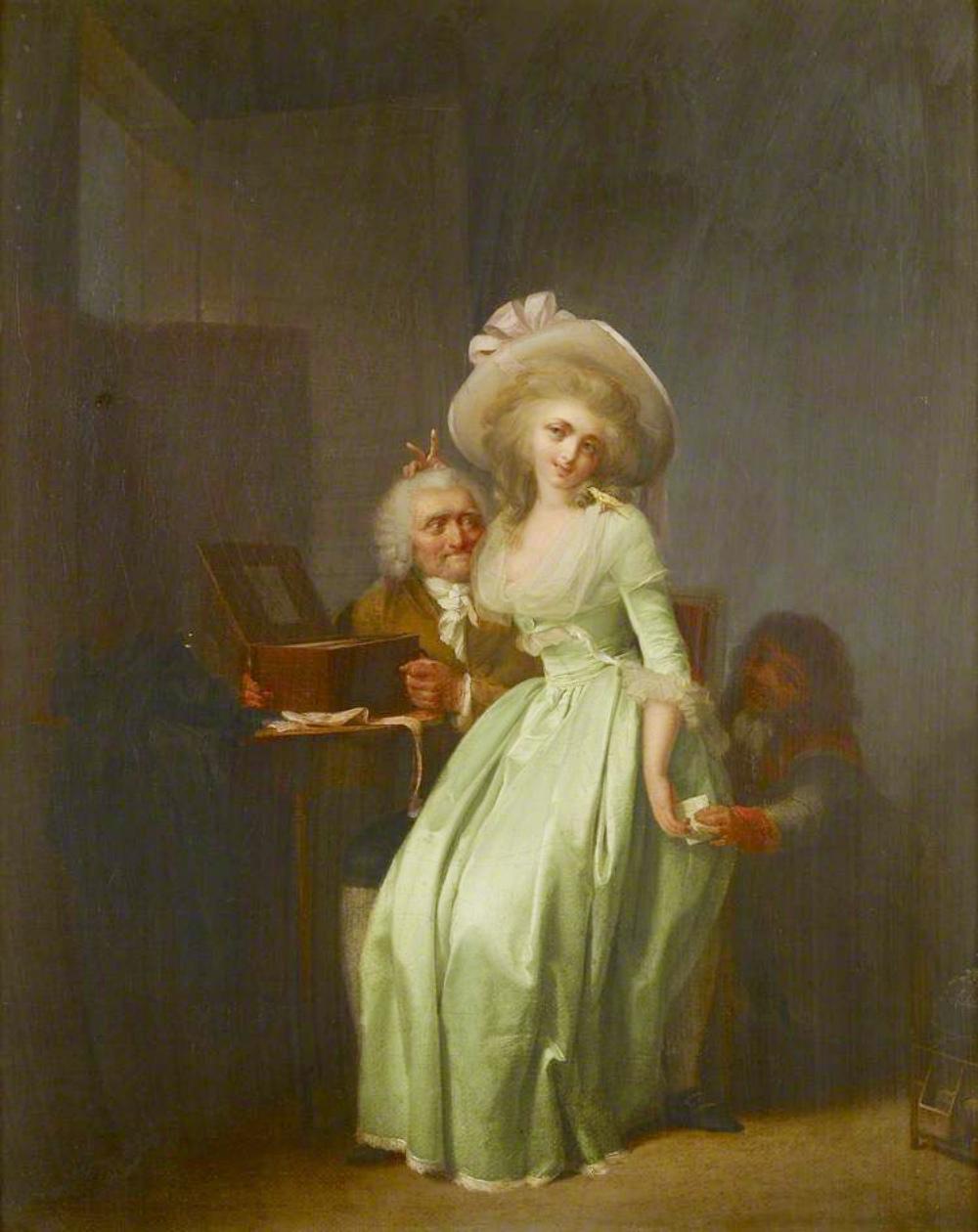 Boilly 1785-88 Jeune femme se moquant d'un vieil admirateur Ashmolean Museum Oxford