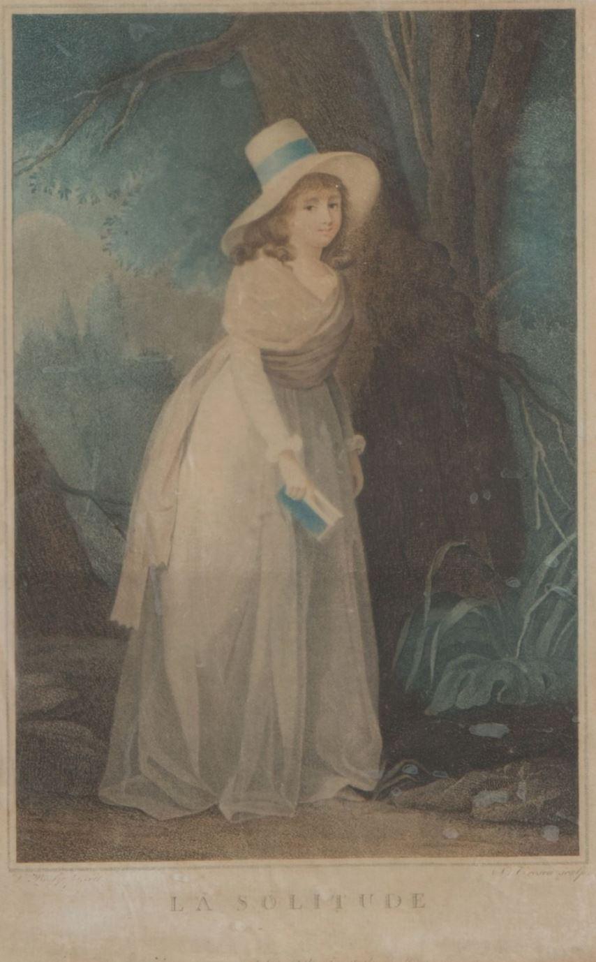 Boilly 1789-93 La solitude gravure de Tresca
