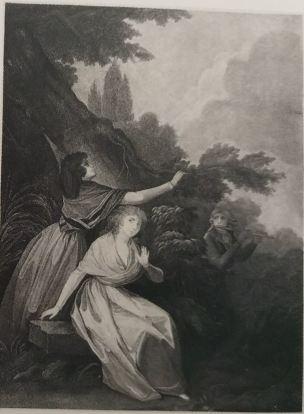 Boilly 1789-93 L'amant musicien gravure de Levilly