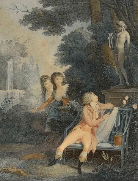 Boilly 1789-93 L'amant poete gravure de Levilly