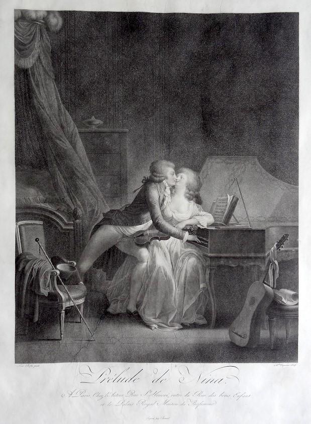 Boilly 1790 Le Prelude de Nina gravure Chaponnier