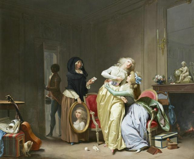 Boilly 1790 Les Malheurs de l'Amour,The Wallace Collection Londres,