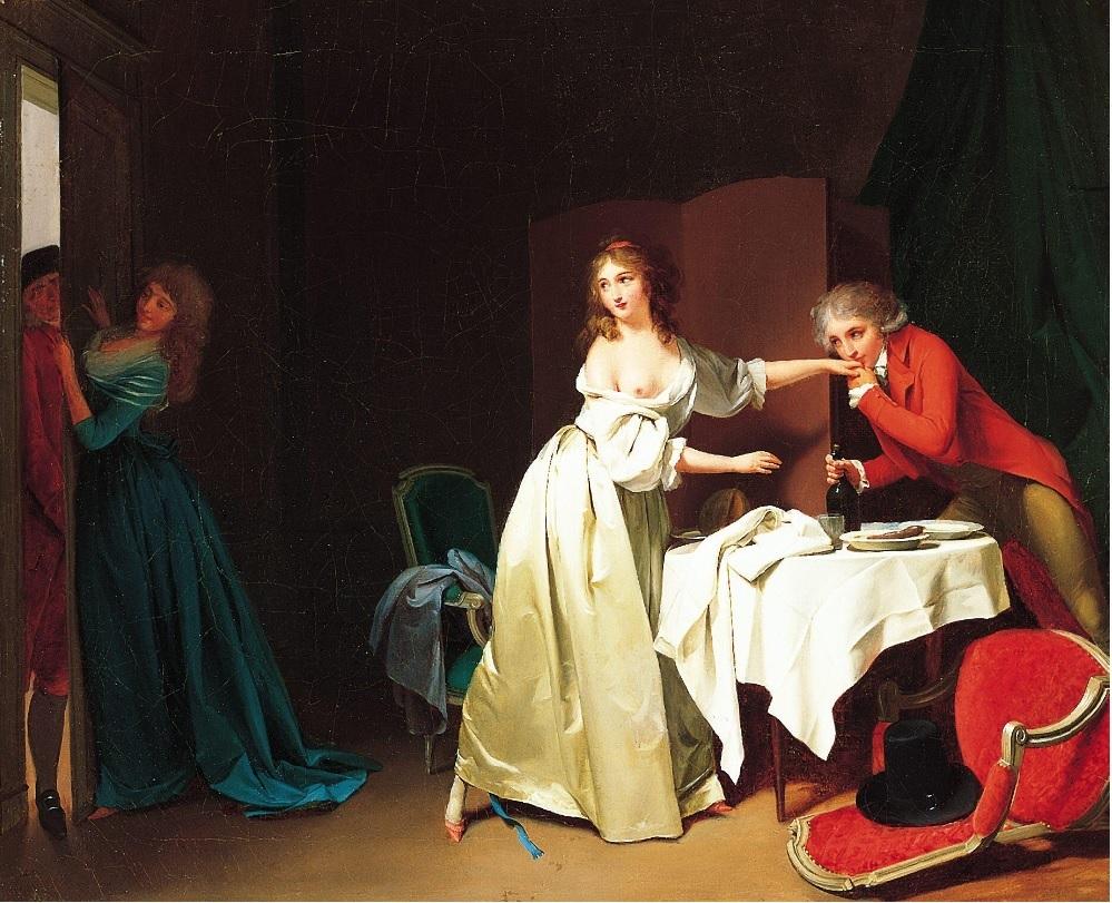 Boilly 1791 A2 Le souper interrompu Poussez fort Pasadena