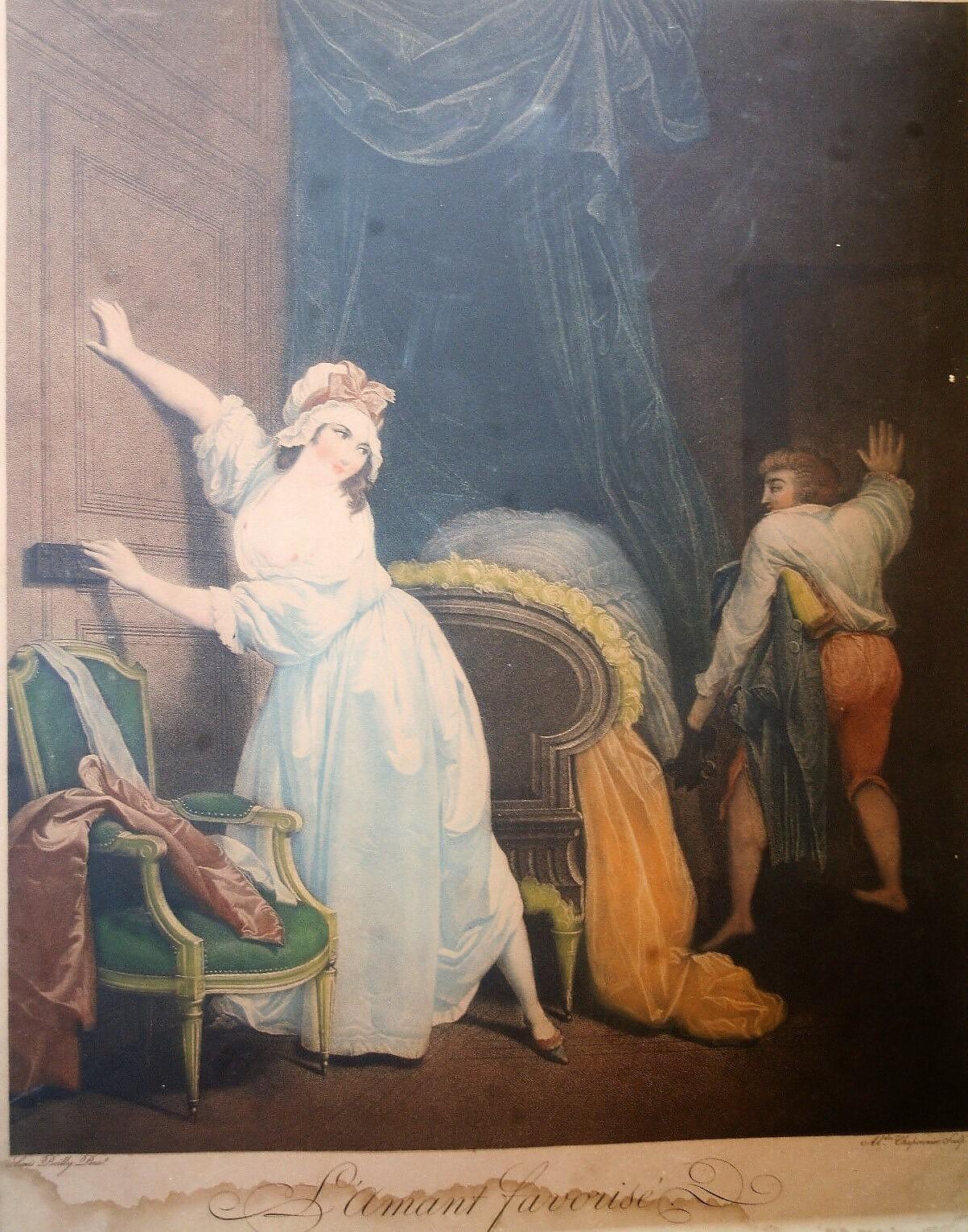 Boilly 1791 C1 L'amant favorise gravure de Chaponnier