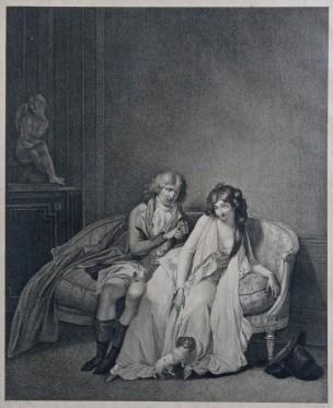 Boilly 1791 La rose prise gravure Eymar