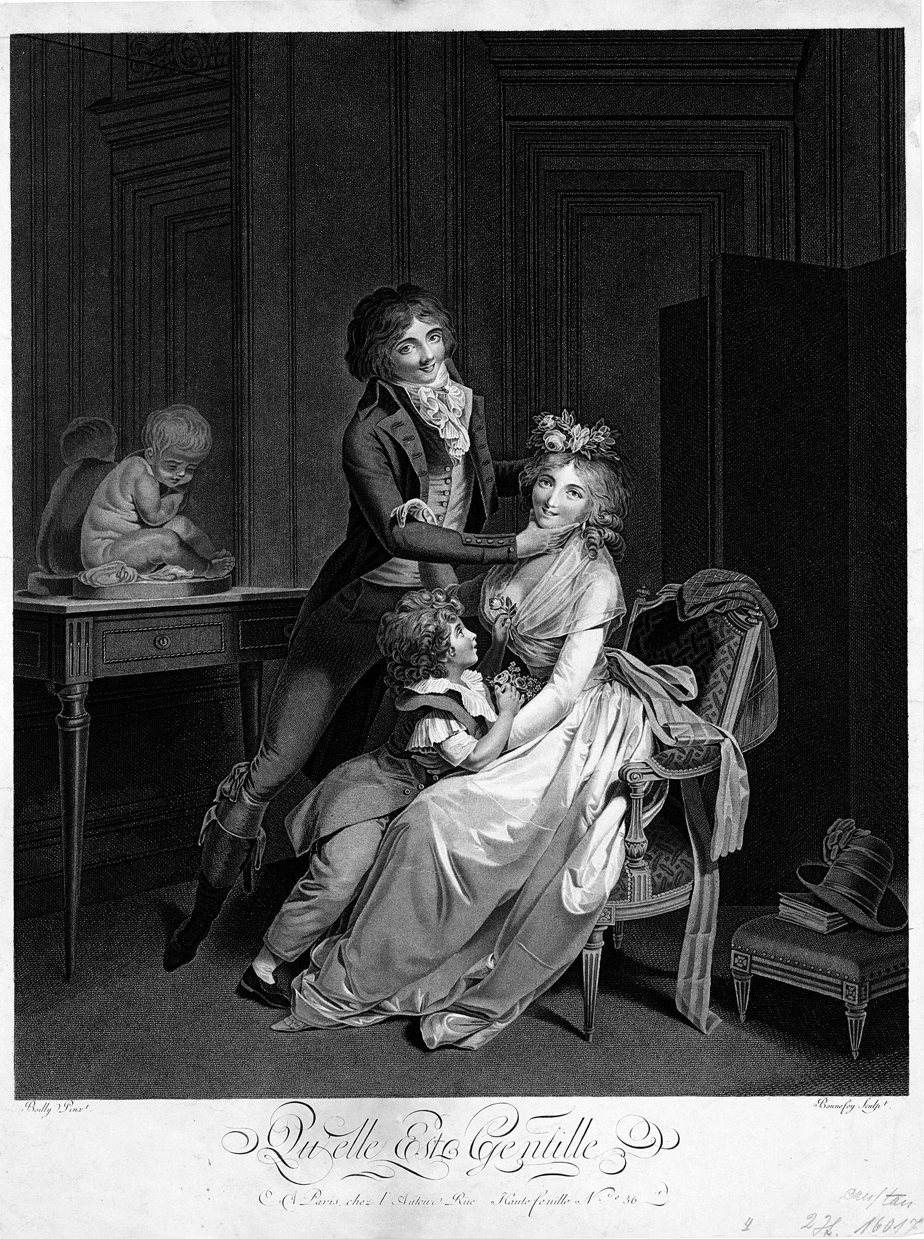 Boilly 1791 ca Ah Qu'elle est gentille gravure de Bonnefoy