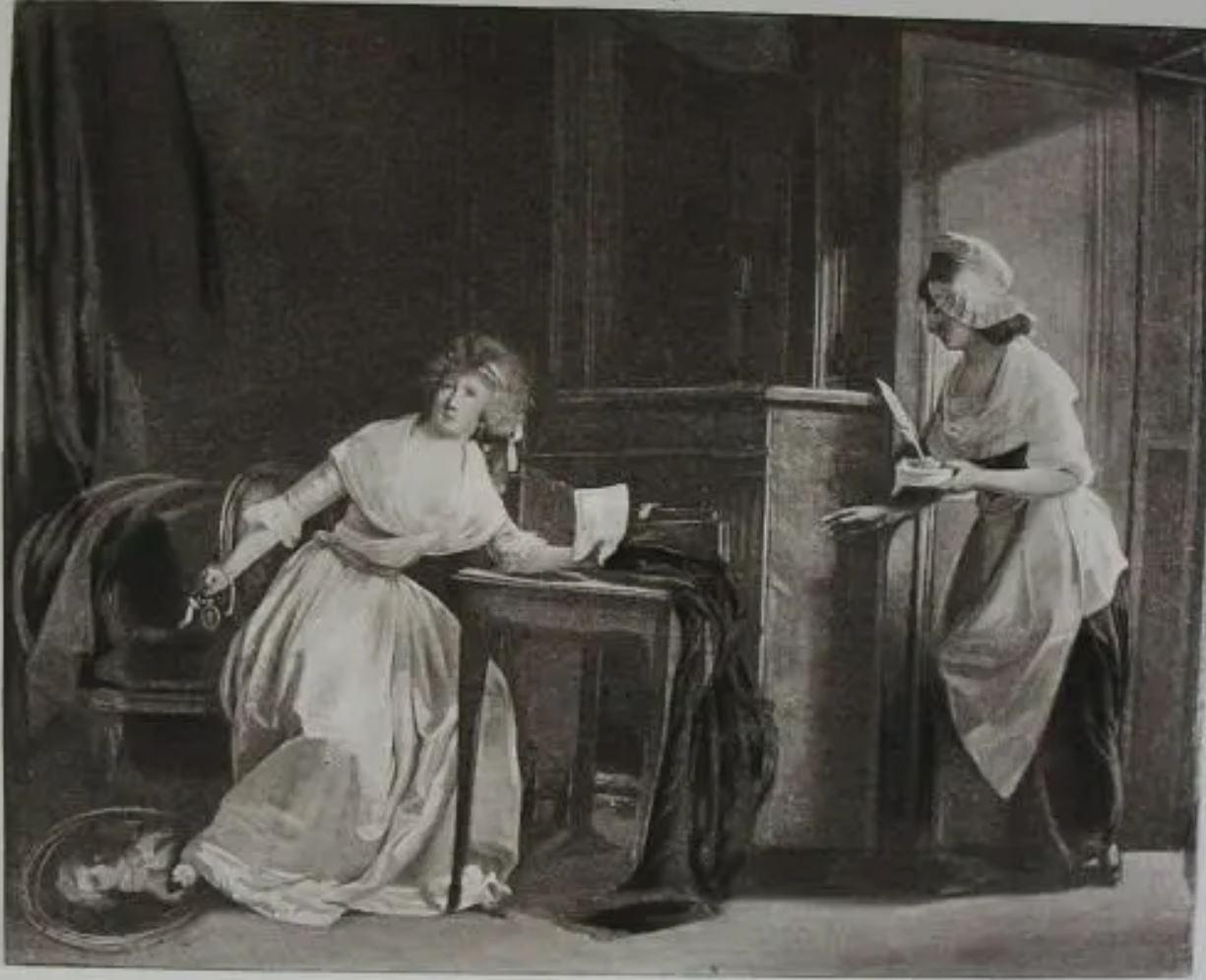 Boilly 1791 ca Amante decue