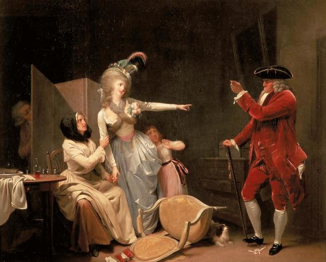 Boilly 1791 ca L amant jaloux Hotel Sandelin Saint Omer