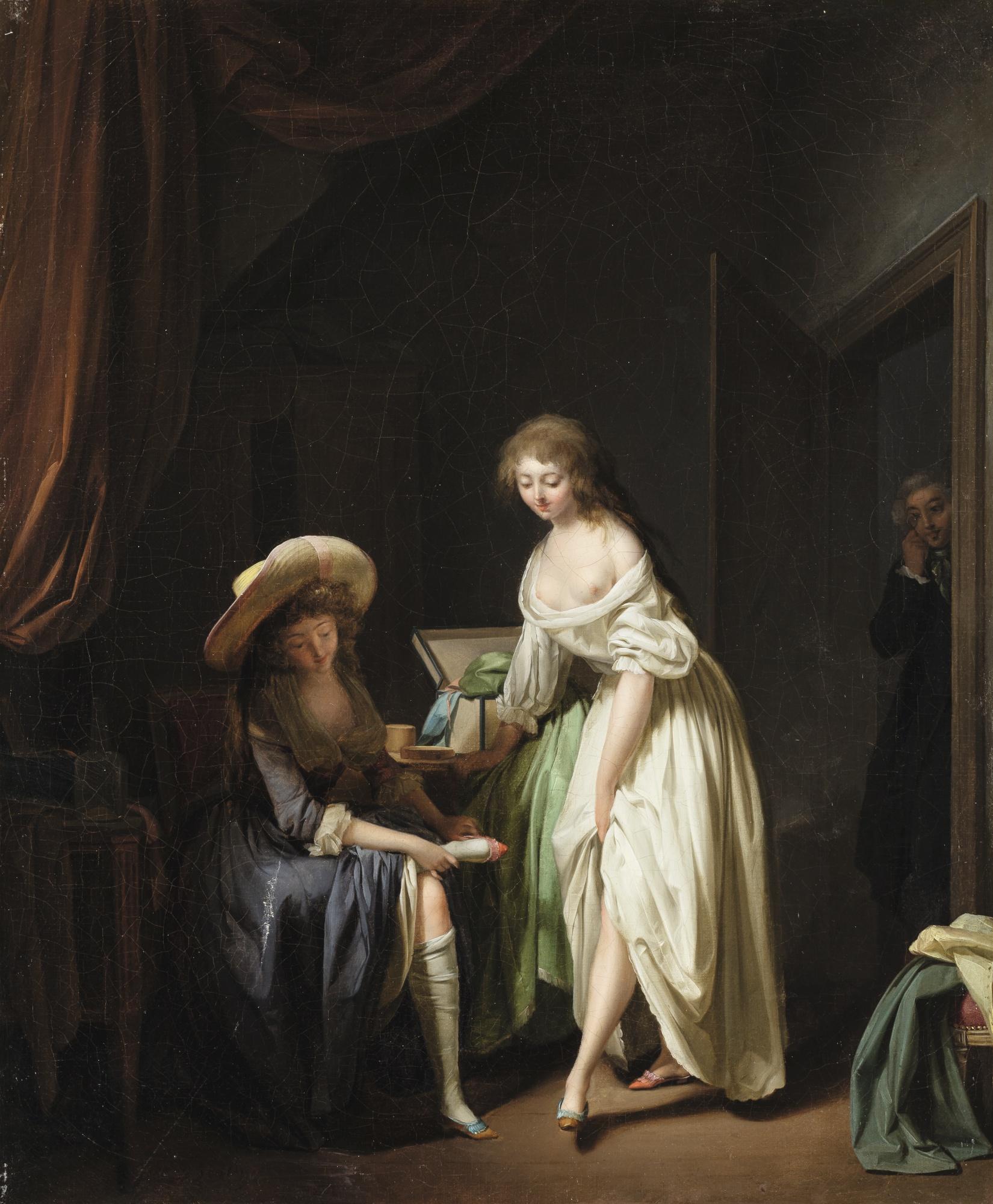 Boilly 1791 ca La Comparaison des petits pieds collection privee
