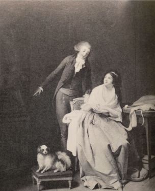 Boilly 1792 L'Amant constant Coll privee