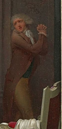 Boilly 1792 Les Conseils Maternels Coll privee detail amoureux