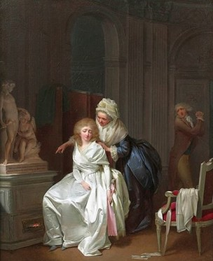 Boilly 1792 Les Conseils Maternels Coll privee