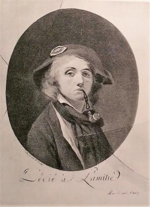 Boilly 1793-94 Autoportrait Dedie a l'amitie grisaille