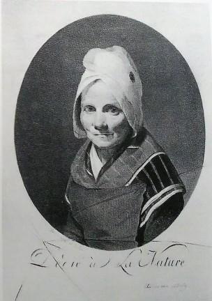 Boilly 1793-94 Portrait de la mere Chenard Dedie a la nature grisaille