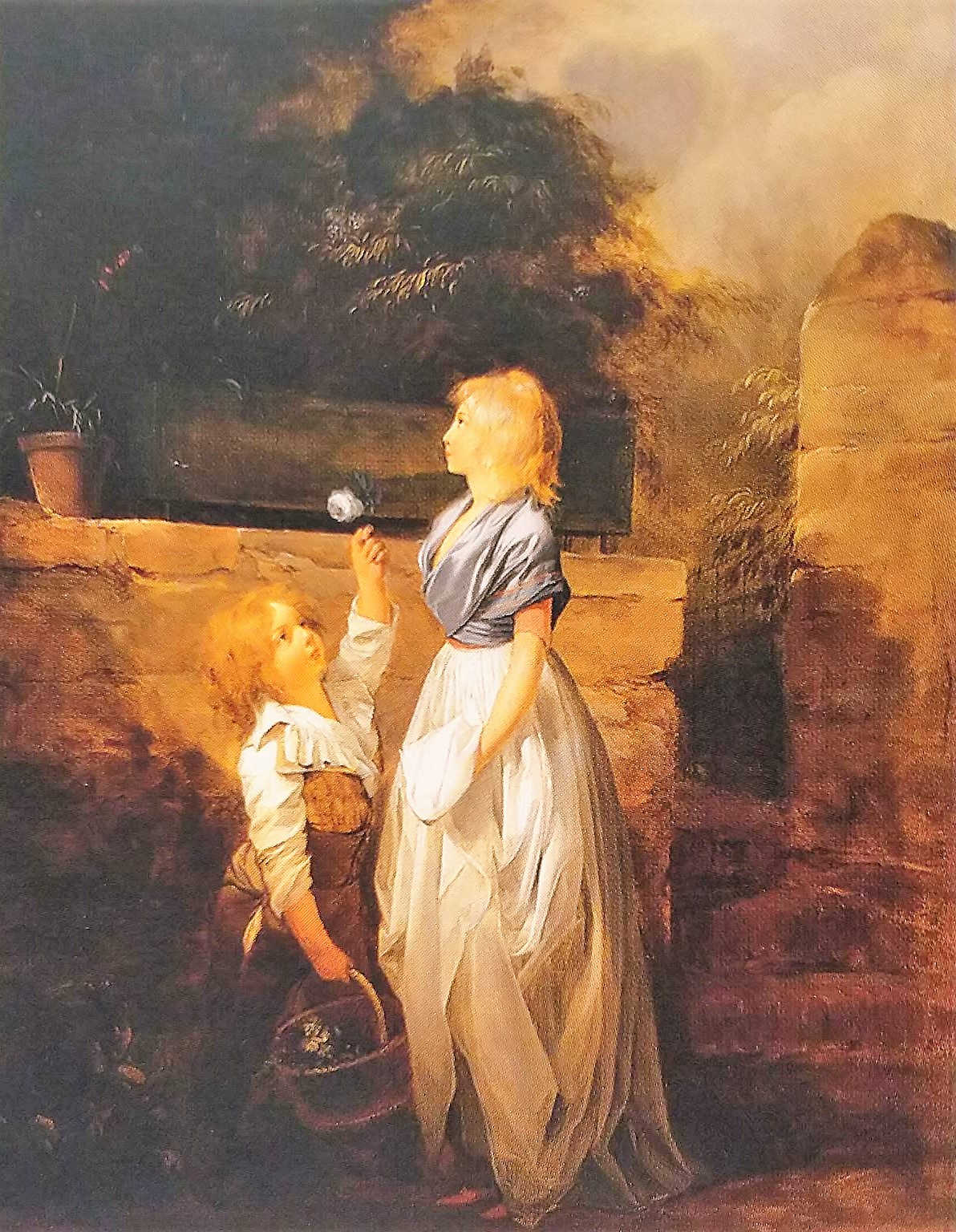 Boilly 1793-96 L'enfant a la rose coll part