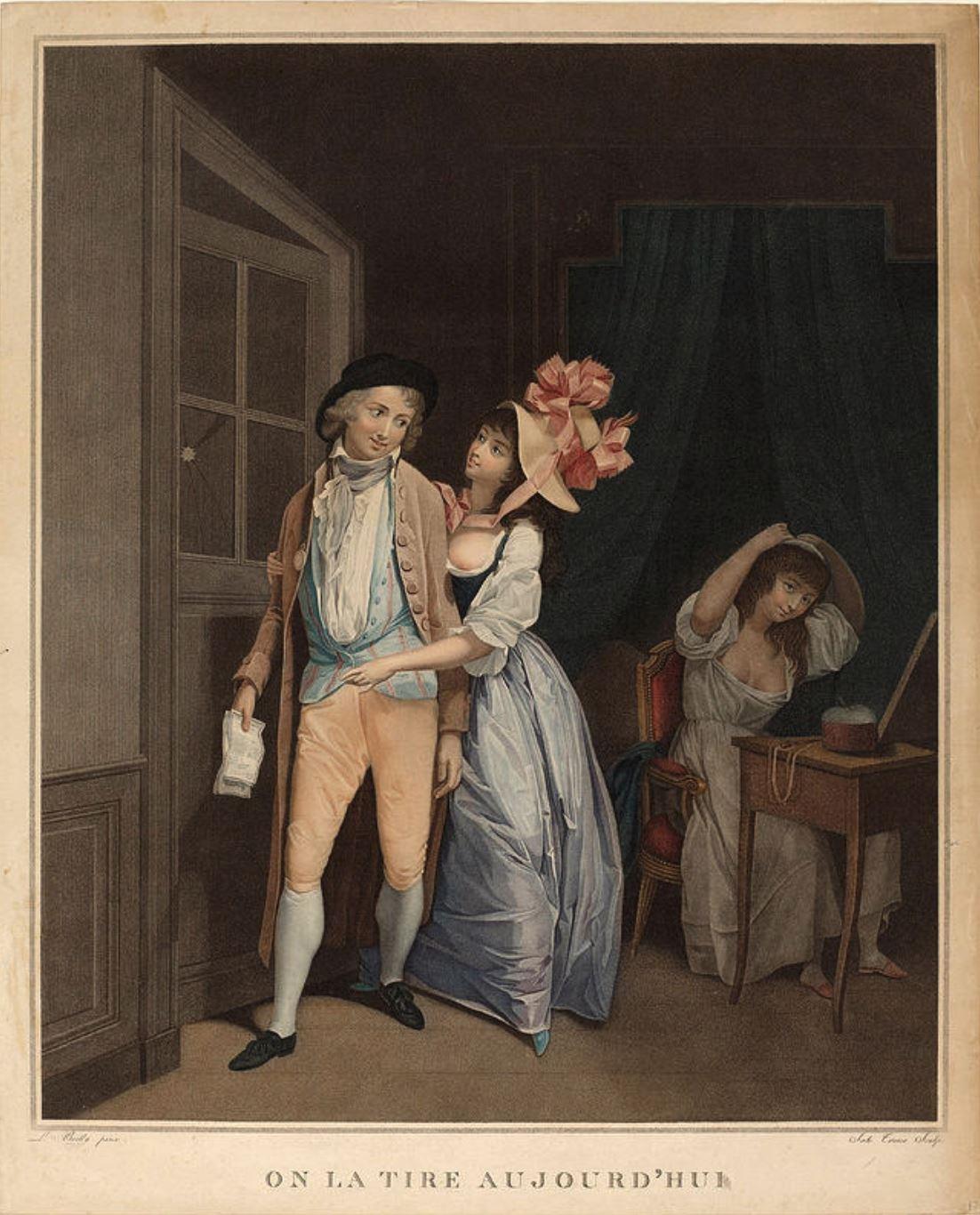 Boilly 1794, On la tire aujourd'hui gravure de Tresca