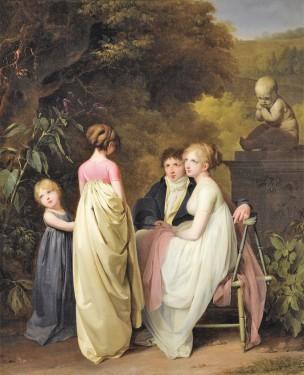 Boilly 1801-03 Rendez-vous d'amour (Conversation dans le parc) Horvitz Collection Wilmington