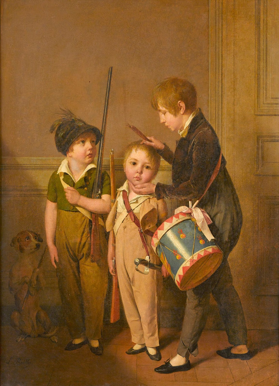 Boilly 1804 Mes petits soldats The Ramsbury Manor Foundation - Photo(c) courtesy the Trustees