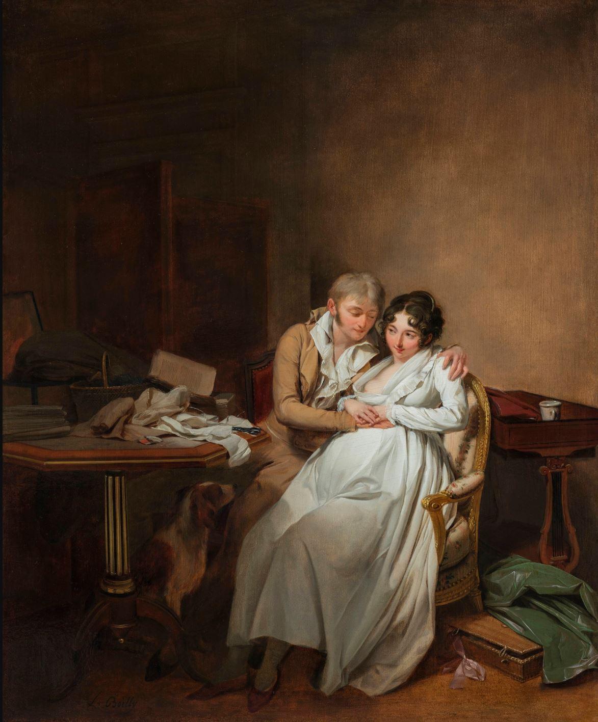 Boilly 1807 ca La tendresse conjugale coll priv