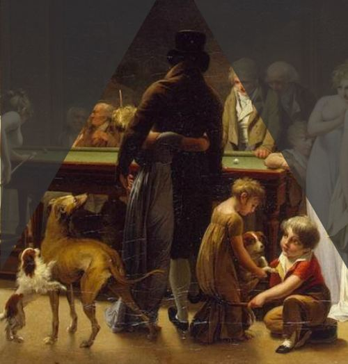 Boilly 1808 Le jeu de billard Ermitage centre