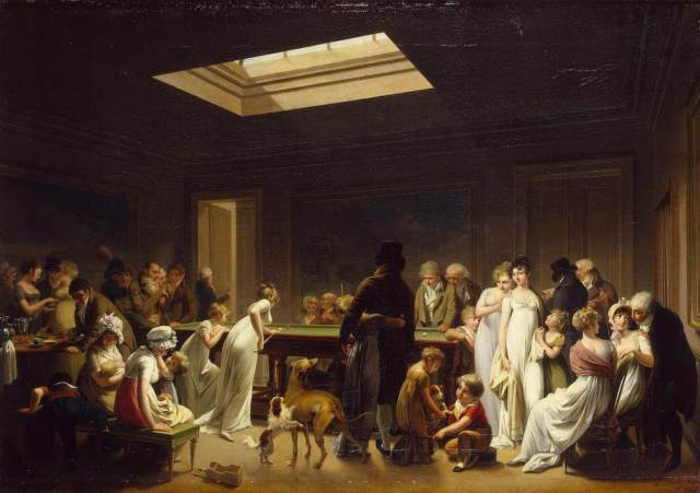 Boilly 1808 Le jeu de billard Ermitage