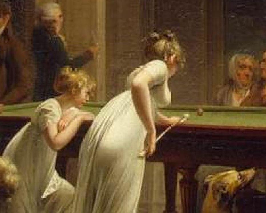 Boilly 1808 Le jeu de billard Ermitage femme