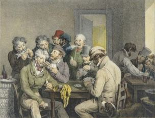 Boilly 1810 Le jeu de cartes