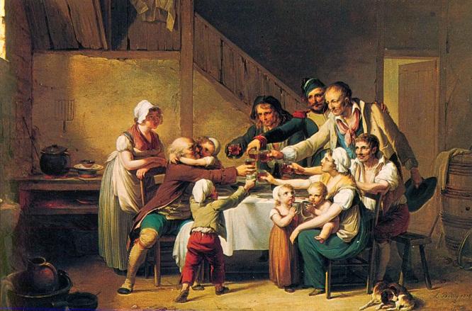 Boilly 1818 La fete du grand pere Galleria Nazionale d'Arte Antica Roma