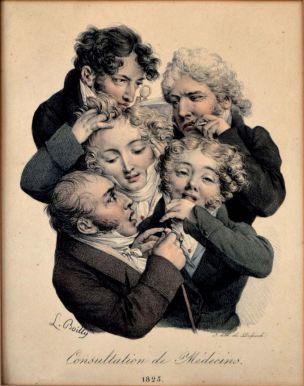 Boilly 1823 Consultation des medecins 1723 Les grimaces