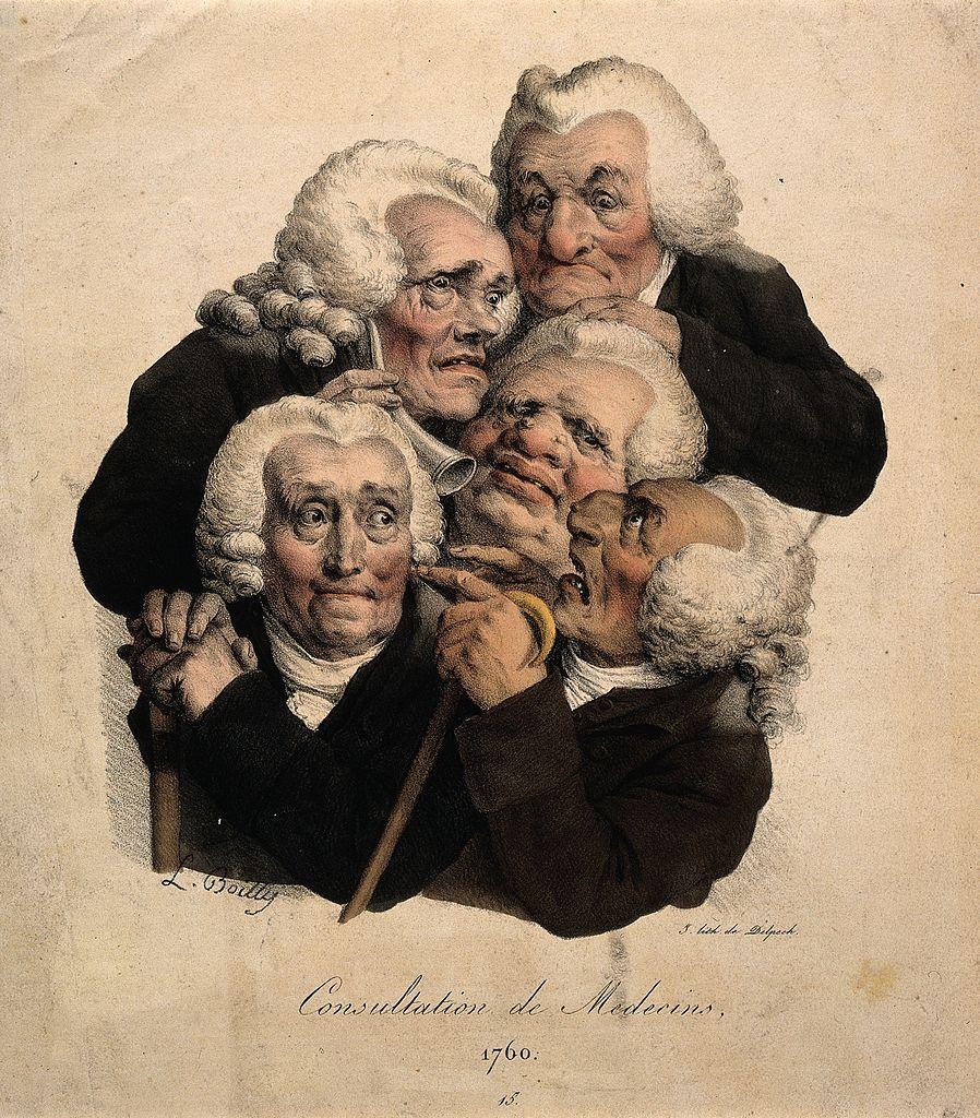 Boilly 1823 Consultation des medecins 1760 Les grimaces