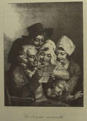 Boilly 1824 La Bonne Nouvelle Les grimaces Aubert