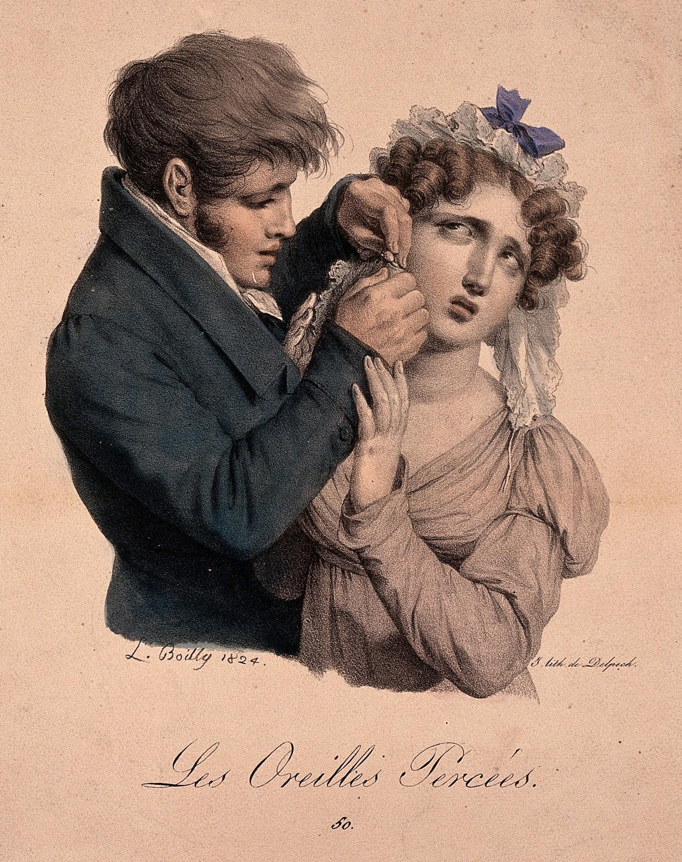 Boilly 1824 Les Oreilles percees Les grimaces