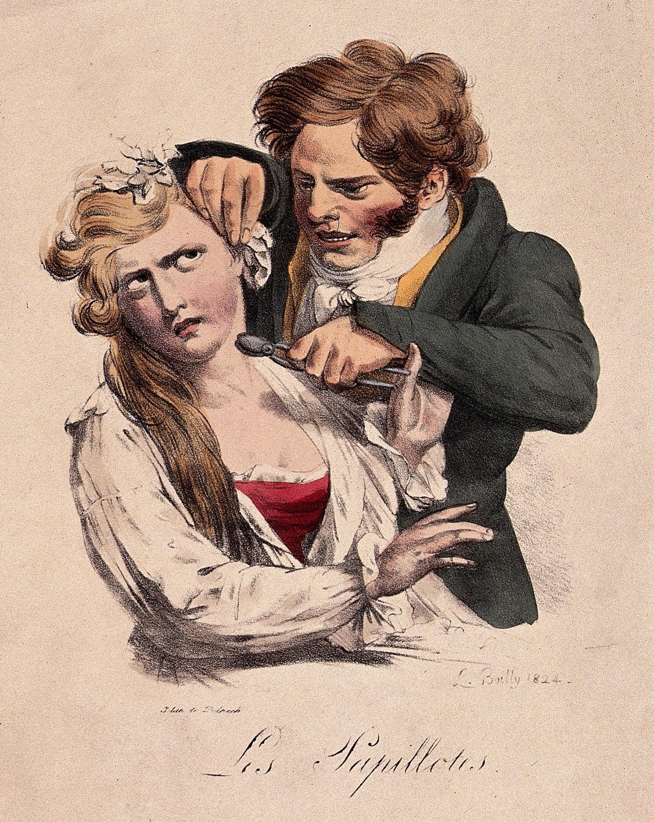 Boilly 1824 Les Papillottes Les grimaces