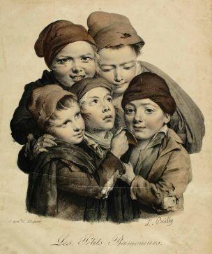 Boilly 1824 Les petits ramoneurs Les grimaces