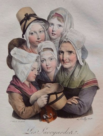 Boilly 1824 Les savoyardes Les grimaces