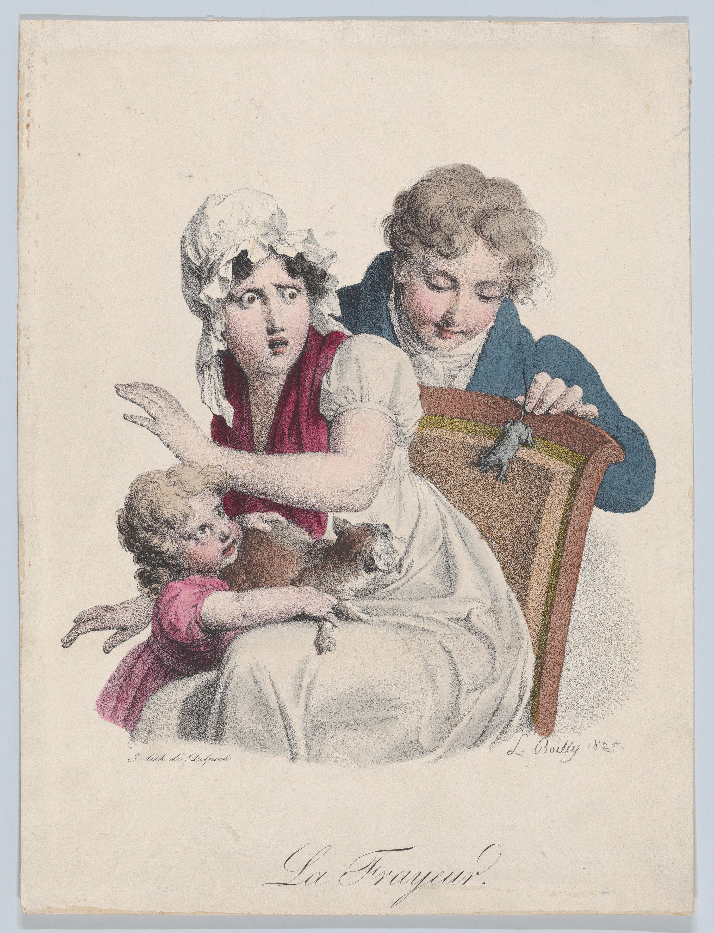 Boilly 1825 La Frayeur Les grimaces