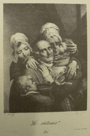Boilly 1825 Le retour (du conscrit) Les grimaces Aubert