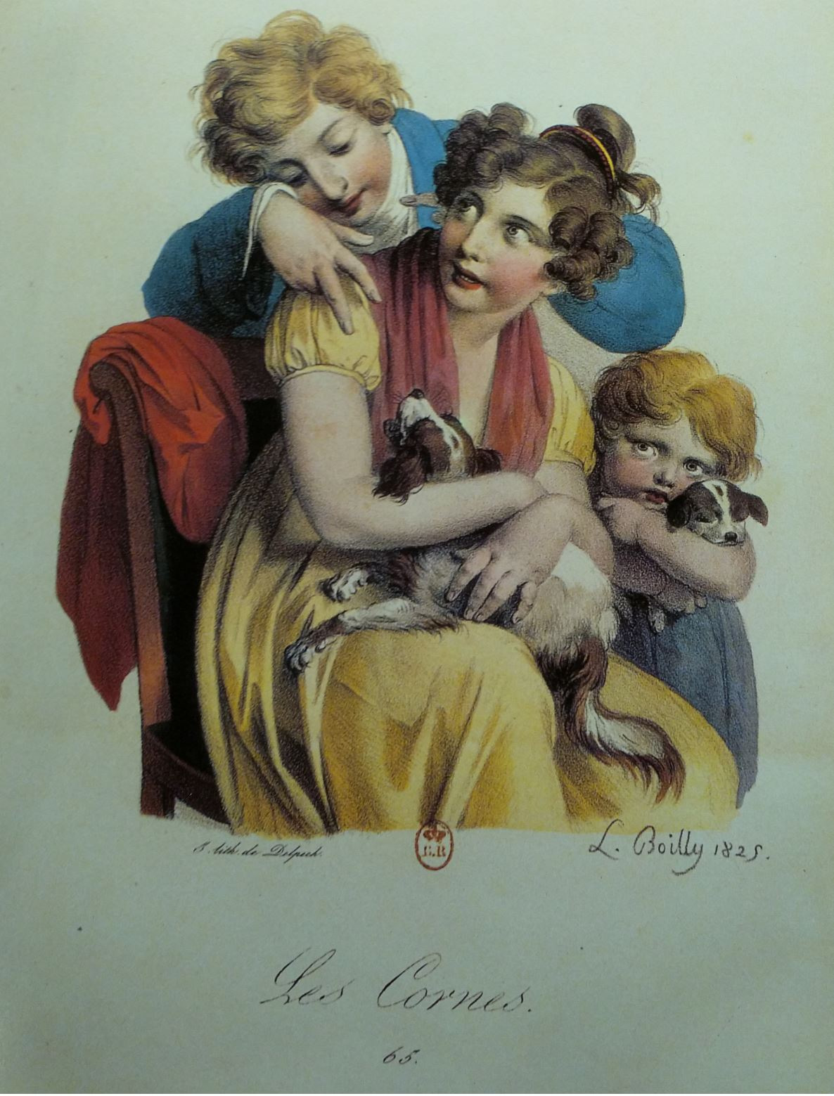 Boilly 1825 Les cornes Les grimaces