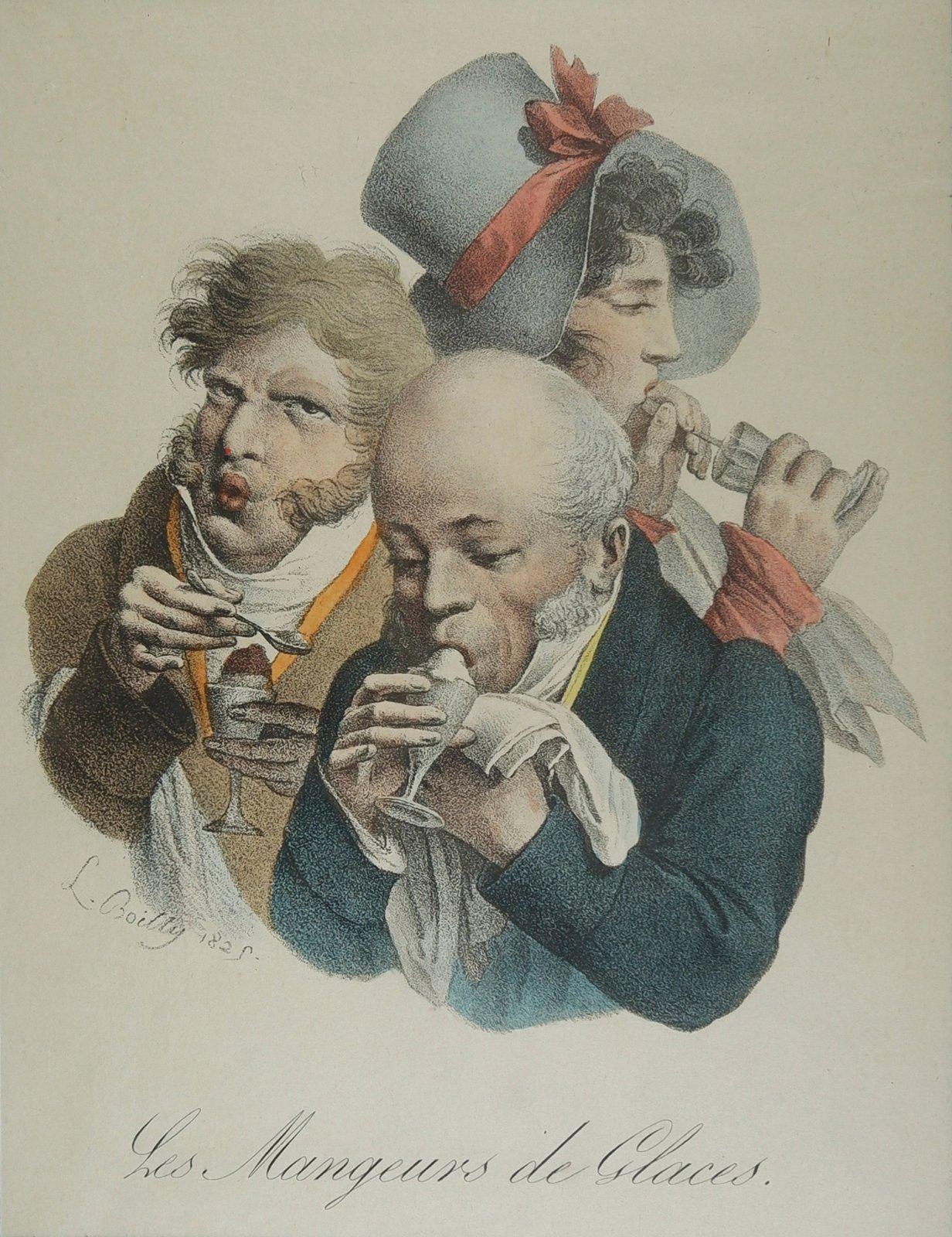 Boilly 1825 Les mangeurs de glace Les grimaces